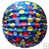 "12"" Color Dot With Blue Accordion Paper Lanterns"