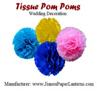 "12"" Paper Tissue PomPoms Ball"