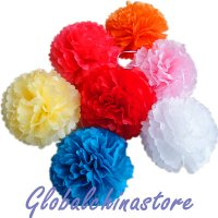 Tissue Pom Poms Ball Lanterns