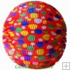 "12"" Color Dot With Red Accordion Paper Lanterns"