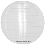 "42"" White Even Ribbing Nylon lantern"