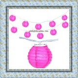 "3.5"" Fuchsia Paper Shaped Party String Lights"