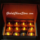 Yellow LED Battery Operated Candle (12 PIECES)