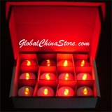 Red LED Battery Operated Candle (12 PIECES)