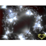 "Led Lighted 42"" Clear Caystal Garland"