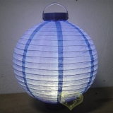 "14"" Blueberry 12LED Round Paper Battery Lantern"