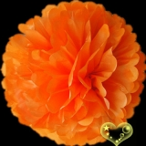 "16"" Tissue Paper Pom Poms Ball - Orange(4 pieces)"