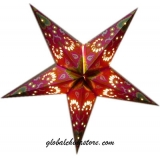 Red Paisley Star Lantern