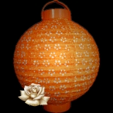 "10""Orange 12LED Eyelet Paper Battery Lantern"