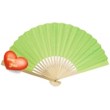 "9"" Lime Paper Hand Fans"