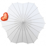 "32"" 4pcs Six Scalloped Parasols-White"