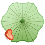 "32"" 4pcs Six Scalloped Parasols-Light Lime"