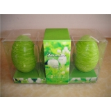 Egg Jasmine Scented Candle(3 of Pack)