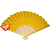 "9"" Yellow Paper Hand Fans"