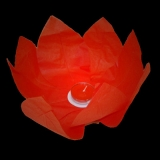 Red Paper Lotus Floating Water Lantern