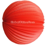 "8"" Red Accordion Paper Lanterns(12 pieces)"
