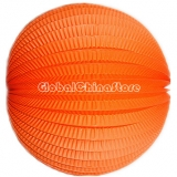 "8"" Orange Accordion Paper Lanterns(12 pieces)"