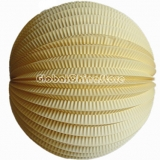 "12"" Light Yellow Accordion Paper Lanterns(12 pieces)"