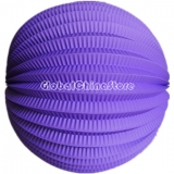 "8"" Purple Accordion Paper Lanterns(12 pieces)"
