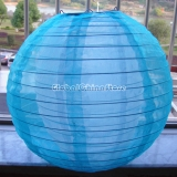 "16""Turquoise Sari Fabric double lanterns"