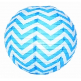 Turquoise Wave Lines Paper Lantern(150 of case)