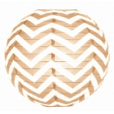 Brown Wave Lines Paper Lantern(150 of case)