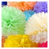 "8"" mixed 28 colors Tissue Paper Pom Poms Ball"