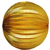 "8"" Gold Accordion Paper Lanterns(12 pieces)"