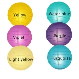 "8"" 6colors mixed Paper Lantern Wholesale(240 of case)"