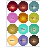 "16"" 12colors Even Ribbing Paper Lanterns"