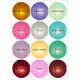 "18"" 12colors Even Ribbing Paper Lanterns"