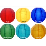 "8"" 6 Colors cross Nylon lanterns(12pcs)"