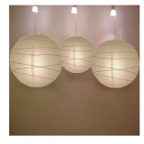 Cross 3 pack Latte paper lanterns cluster