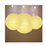 Cross 3 pack Light yellow paper lanterns cluster