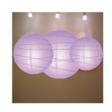 Cross 3 pack Lavender paper lanterns cluster