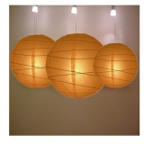 Cross 3 pack Burnt orange paper lanterns cluster