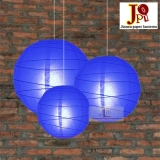 Cross 3 pack dark blue paper lanterns cluster