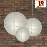 Cross 3 pack dove/grey paper lanterns cluster