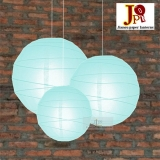 Cross 3 pack Ice blue paper lanterns cluster