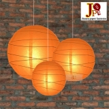 Cross 3 pack Orange paper lanterns cluster