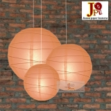 Cross 3 pack Peach paper lanterns cluster