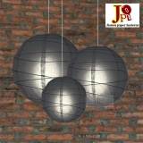 Cross 3 pack black paper lanterns cluster