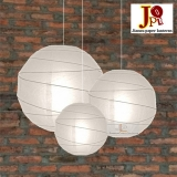 Cross 3 pack White paper lanterns cluster