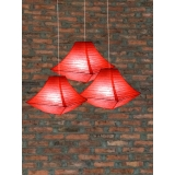 "14"" Red Pagoda Paper Lantern-3pack"