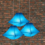 "14"" Turquoise Pagoda Paper Lantern-3pack"