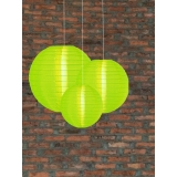 3 Pack Lemon Green Nylom Lanterns Cluster