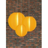 3 Pack Gold Yellow Nylom Lanterns Cluster