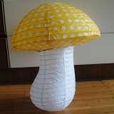Small Dot with Yellow Mushroom Paper Lanterns(100 of case)
