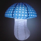 Small Dot with turquoise Mushroom Paper Lanterns(100 of case)