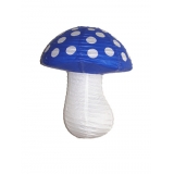 White Dot with Dark Blue Mushroom Paper Lanterns(100 of case)